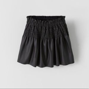 Zara Girls Elastic Smocked Skirt Size 6 NWT